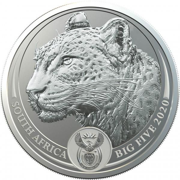 1 Unze Silber BU Big Five Leopard Südafrika 2020