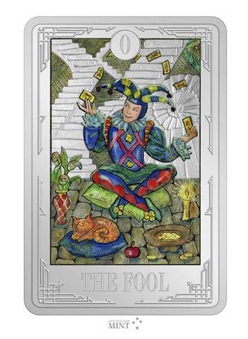 1 Ounce Silver Proof Tarot Cards - The Fool 2$ Niue 2021
