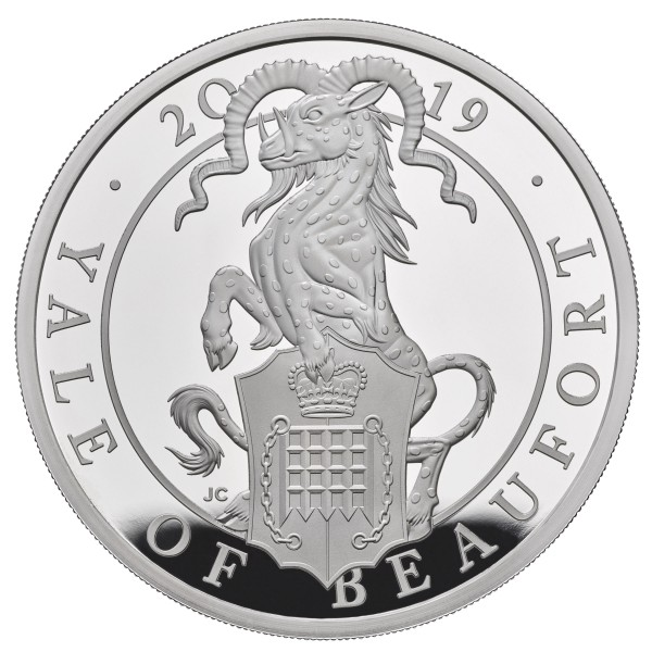 1 Unze Silber Proof Queens Beasts The Yale of Beaufort 2 £ United Kingdom 2019
