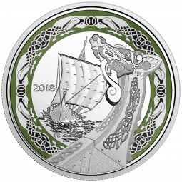 1 Oz Silber Proof Norse figureheads: Northern Fury 20 CAD Kanada 2018