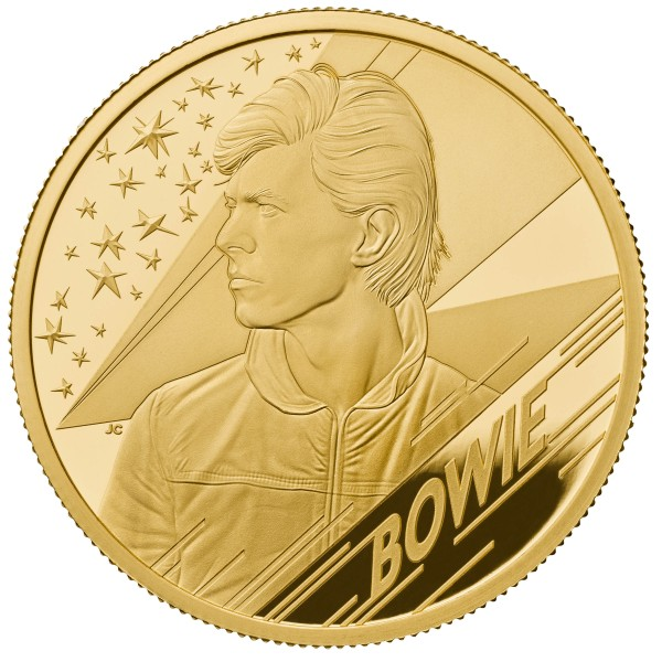 1 Ounce Gold Proof Music Legends - David Bowie - 100 £ Pounds United Kingdom 2020