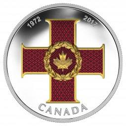 1 Oz Silber Proof Canadian Honours : 45th Anniversary of the Cross of Valour Kanada 2017