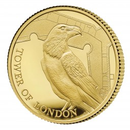 1/4 Oz Gold Proof Proof The Tower of London - Legend of the Ravens 25 £ Pfund United Kingdom 2019