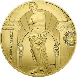 50 Euro 1/4 Unze Gold Proof Venus von Milo Frankreich France 2017