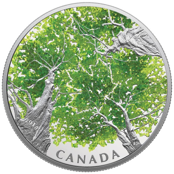 2 Oz Silber Proof Canadian Canopy: The Maple Leaf 30 CAD Kanada 2018 Canada