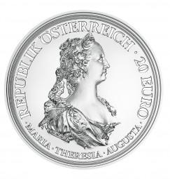 20 Euro Silber Proof Maria Theresia - Tapferkeit und Entschlossenheit Österreich 2017