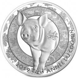 10 Euro Silber Proof Lunar Year of the Pig / Schwein Frankreich 2019