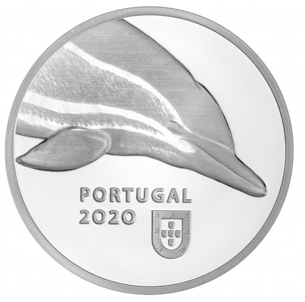 5 Euro Silver Proof Dolphin - Protected Species Portugal 2020