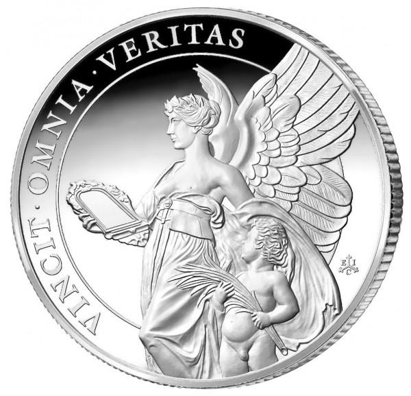 1 Unze Silber Proof The Queen´s Virtues - Veritas - 1 £ St.Helena 2021