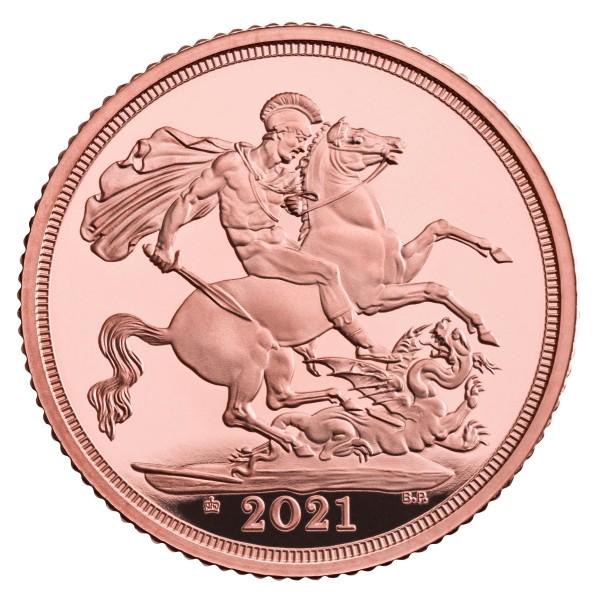 Sovereign Gold Proof 95 Crown Privy Mark United Kingdom 2021