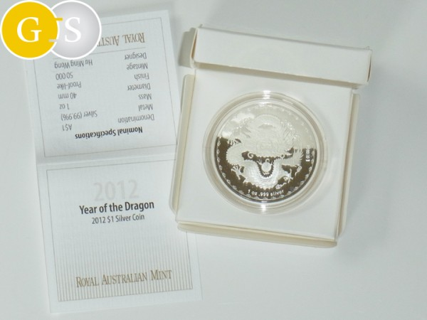 1 Unze Silber Proof-like Drache Australien 2012