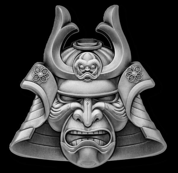 Ancient Warriors - Samurai 2 Ounce Silver Antique 5 $ Samoa 2021