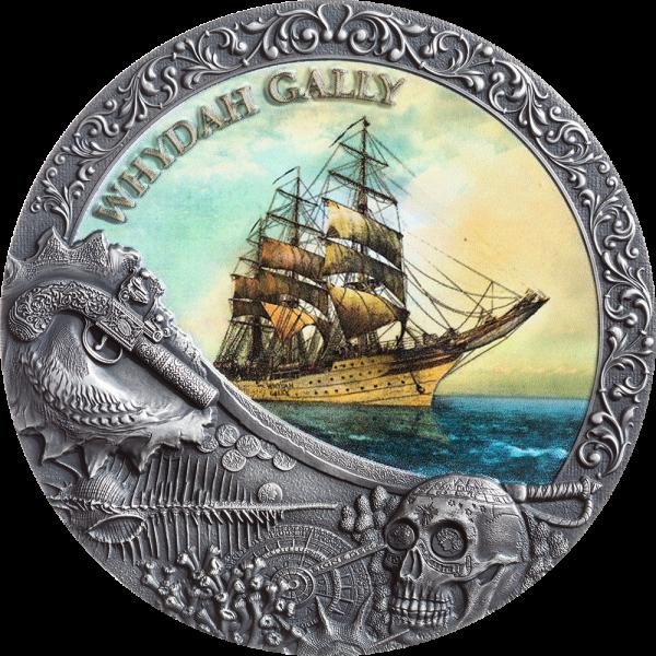 2 Ounce Silver Antique Whydah Gally - Grand Shipwrecks 5$ Niue 2019