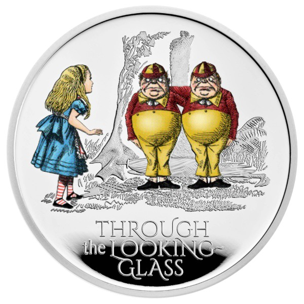 Alice - through the Looking-Glass - Treasury of Tales - 1 Ounce Silver Proof 2 £ United Kingdom 2021
