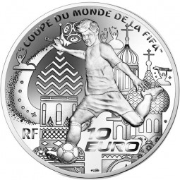 10 Euro Silber Proof FIFA World Cup Frankreich 2018