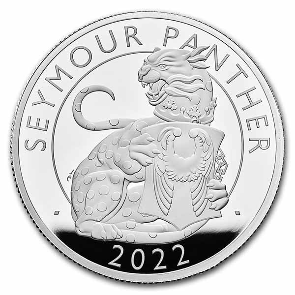 The Seymour Panther - The Royal Tudor Beasts 2 Unze Silber Proof 5 £ United Kingdom 2022