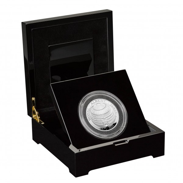 Royal Albert Hall - 150 Jahre - Domed Silber Proof 5 £ United Kingdom 2021