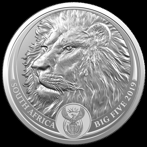 1 Unze Silber BU Big Five Löwe Blister Südafrika 2019