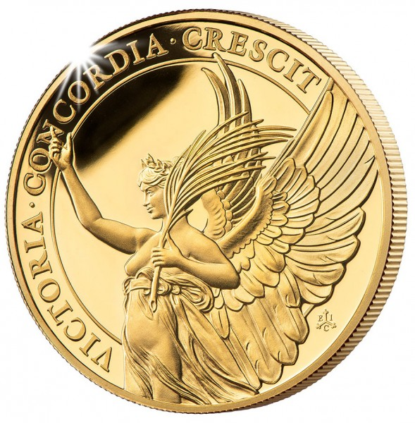 1 Unze Gold Proof The Queen´s Virtues - Victory - 5 £ St.Helena 2021