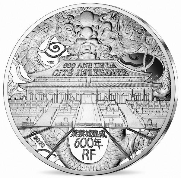 10 Euro Silber Proof Unesco - Verbotene Stadt Frankreich 2020