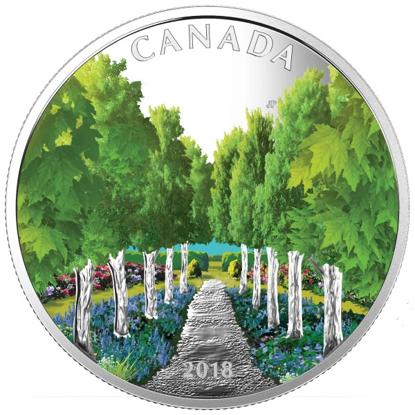 20 Dollar 1 Ounce Silver Proof Maple Tree Tunnel Canada 2018