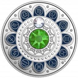 3 CAD Silber Proof Zodiac / Sternzeichen: Virgo / Jungfrau Kanada 2017 Canada