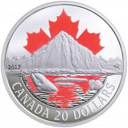 1 Oz Silber Proof Arctic Coast 20 CAD Kanada 2017 Canada
