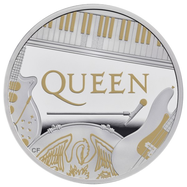 1 Unze Silber Proof Music Legends - Queen - 2 £ United Kingdom 2020
