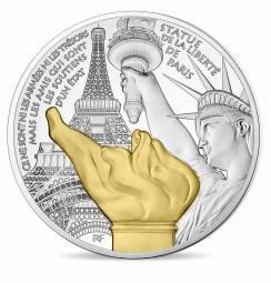10 Euro Silber PP Paris' Treasures Statue of Liberty Frankreich 2017 France Kleine Freiheitsstatue