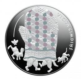 5 Euro Silber Proof Märchen III - Des alten Manns Fäustling Lettland 2017