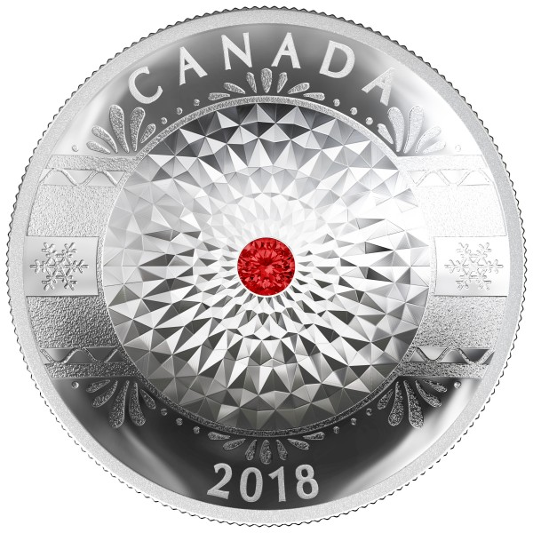 25 CAD Silver Proof classic holiday ornament Canada 2018