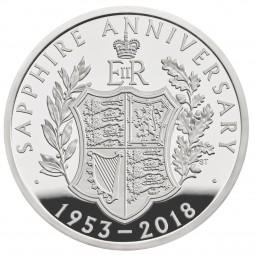 5 £ Pfund Silber Proof Sapphire Coronation United Kingdom 2018 Royal Mint