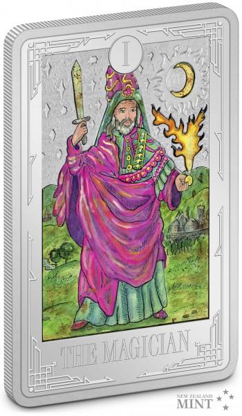 1 Unze Silber Proof Tarot Karten - Der Magier 2$ Niue 2021