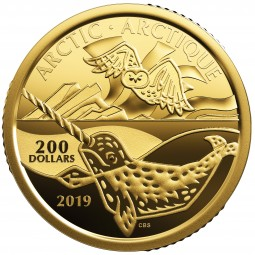 200 Dollar Gold Proof Canadian Coastal Symbols: The Arctic Kanada 2019