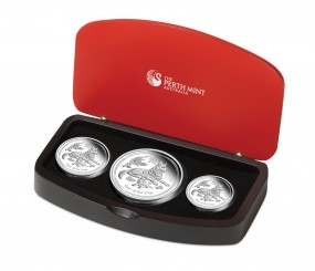3,5 Unzen Silber PP Proof Lunar II 3 Coin Set Hund Dog Australien 2018 - 3,5 $ AUD