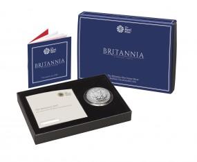 1 Oz Silber BU Britannia packaged in box 2 £ Pfund United Kingdom 2017