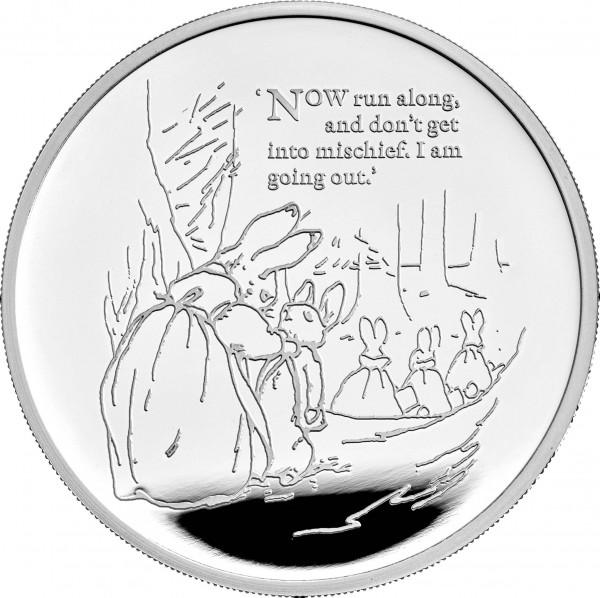 Peter Rabbit 1 Unze Silber Proof 2 £ United Kingdom 2021