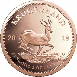 1 Unze Gold Proof Krügerrand Südafrika 2018 South Africa Krugerrand