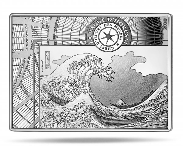 10 Euro Silver Proof Masterpieces of Museums - The wave Hokusai France 2020
