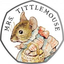 50 Pence Silber Proof Beatrix Potter - Mrs. Tittlemouse United Kingdom 2018 Royal Mint