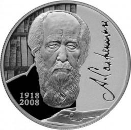 2 Rubel Writer A.I. Solzhenitsyn 1/2 Unze Silber Proof Russland 2018