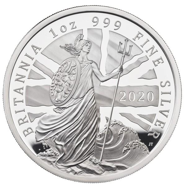 1 Unze Silber Proof The Britannia 2 £ United Kingdom 2020