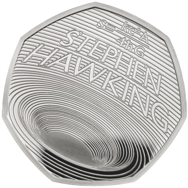 50 Pence Silber Proof Stephen Hawking United Kingdom 2019 Royal Mint