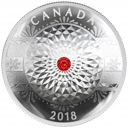 25 CAD Silber Proof classic holiday ornament Kanada 2018 Canada