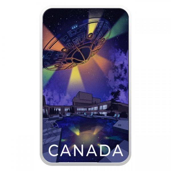 Ufo Montreal Incident - Canada's Unexplained Phenomena 1 Oz Silber Proof 20 CAD Kanada 2021