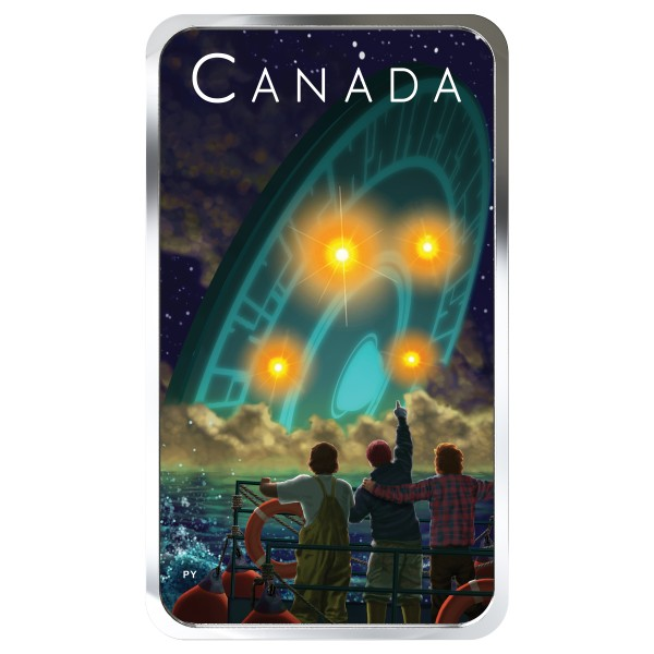 1 Oz Silber Proof Canada's Unexplained Phenomena: The Shag Harbour Incident 20 CAD Kanada 2019