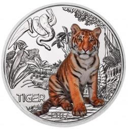 3 Euro Tier Taler hgh Der Tiger Österreich 2017 Austria leuchtet im Dunkeln