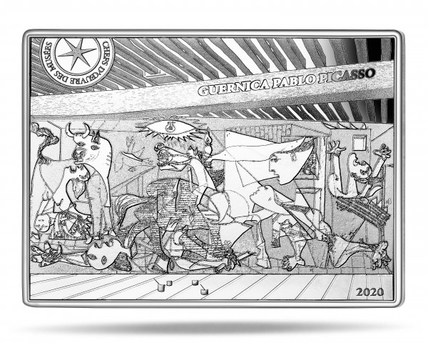10 Euro Silver Proof Masterpieces of Museums - Picasso Guernica France 2020