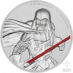 2 Oz Silber Proof Ultra High Relief Darth Vader Star Wars 2017 Niue Silver