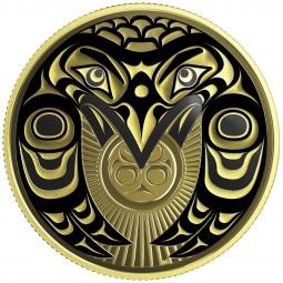 100 Dollar Gold Proof Raven brings the light Kanada 2017 Canada
